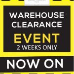 Julian Charles 2 weeks warehouse clearance